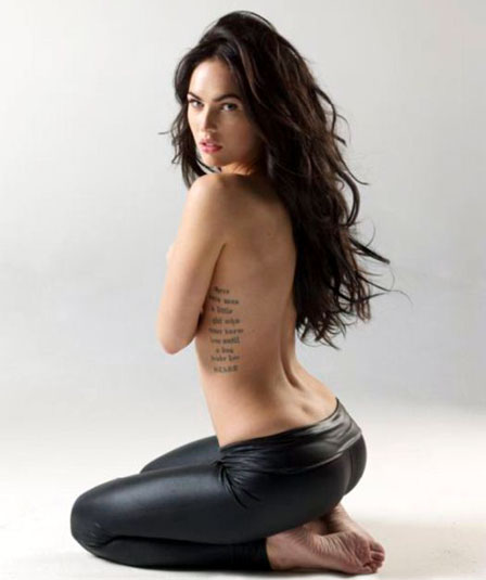 "HEART megan_fox_tattoo.jpg 4. ""Brian"" Cursive letter Brian tattoo"